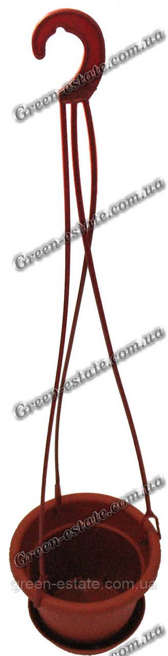 Вазон підвісний 15 коричневий