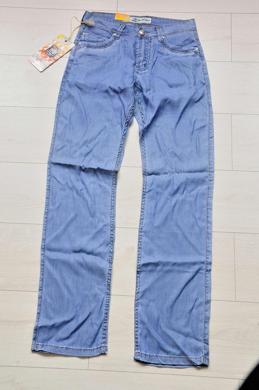Тонкі літні чоловічі джинси сині 29 розмір