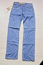 Тонкие летние мужские джинсы синие 29 размер