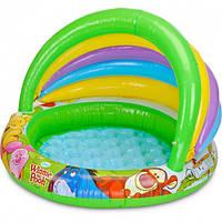 """Детский надувной бассейн Intex """"Винни пух"""", 102x69х13 см"""