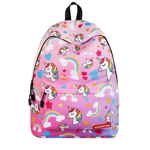 Школьный рюкзак с Единорогом розовый