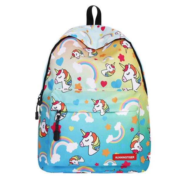 Школьный рюкзак с Единорогом желтый