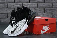 Мужские спортивные кроссовки Nike Air Max 270 Black and White (Найк Аир Макс 270 (Реплика Топ качества ), фото 2