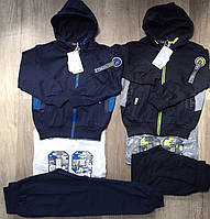 Трикотажный  костюм - тройка для мальчиков S&D оптом, 98-128 рр. {есть:104}