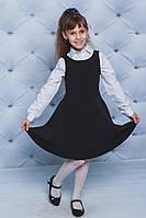 Сарафан для девочки школьный черный, фото 1