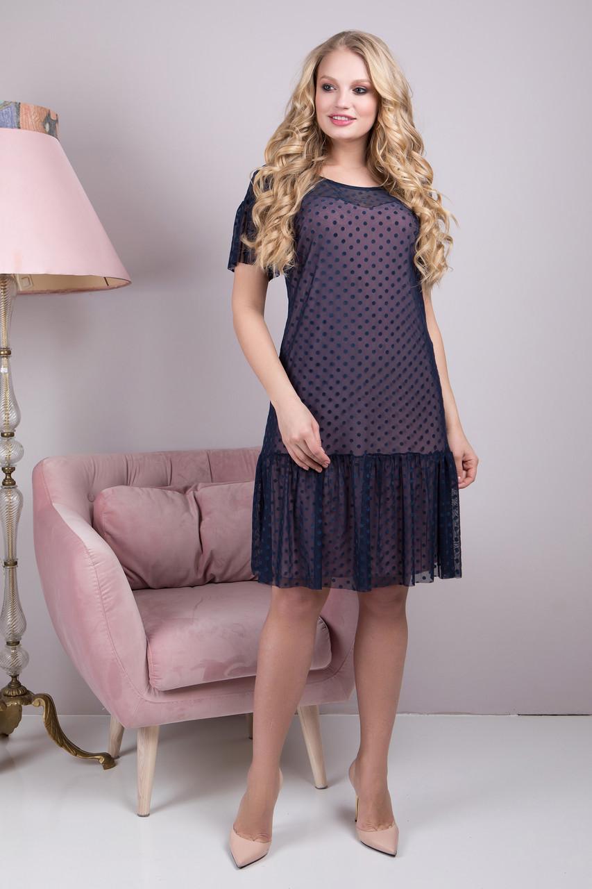 55910b82ed6a Женское черное платье большого размера Анна ТМ ALL POSA 48-54 размеры -  Интернет-