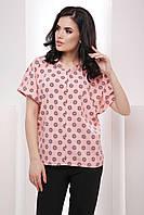 Комфортная прямая блуза с рукавом-летучая мышь 7051, фото 1