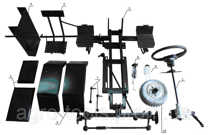Комплект для переоборудования мотоблока в мототрактор №4 (механическая тормозная система) (КТ24)