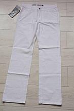 Белые летние прямые мужские джинсы
