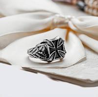 """Кольцо из серебра с чернением """"Тевтонский Крест"""""""