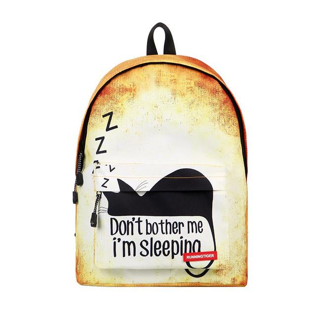 Рюкзак для школы со спящим котом