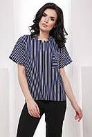 Комфортная прямая блуза с рукавом-летучая мышь 7051/2, фото 1