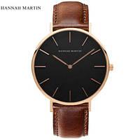 Стильные мужские наручные часы «Hannah Martin» в классическом стиле (коричневый)