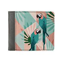 Стильный квадратный кошелек Попугай подарок девушке, фото 1