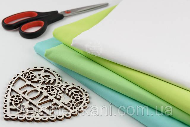 Набор тканей в зелёных оттенках