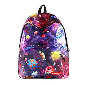 Шкільний рюкзак Космос Фаст-Фуду