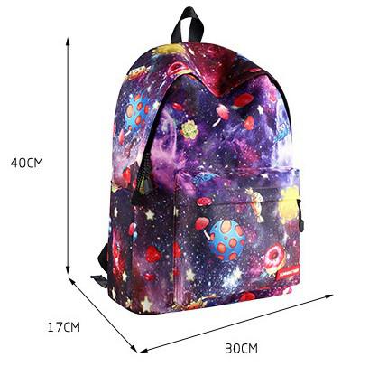 Школьный рюкзак Космос Фаст-Фуда