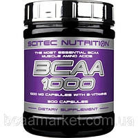 Аминокислоты Scitec Nutrition BCAA 1000, 300 caps