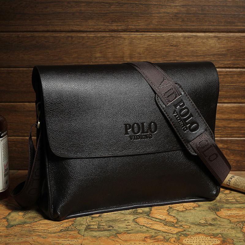 Большая мужская сумка через плечо Polo Vicun