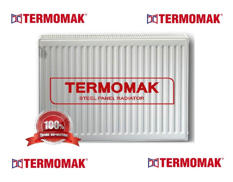 Стальной Радиатор отопления (батарея) 500x1100 тип 22 Termomak (боковое подключение)