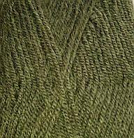 Пряжа для вязания Альпака роял ALIZE хаки 567