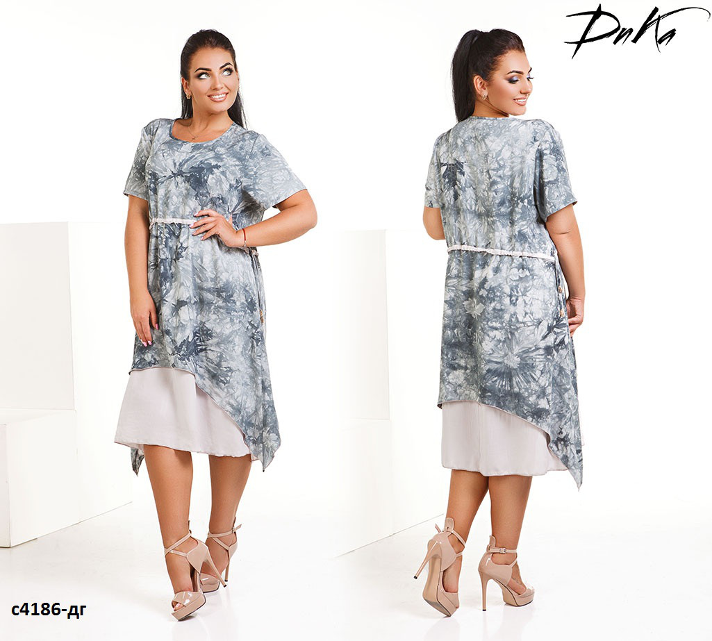 49a4db54585 Платье сарафан летний свободное штапель батал размеры 50-56 - Интернет -  магазин «