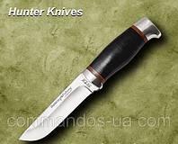 Нож охотничий. Рукоять - кожа наборная