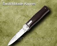 Нож выкидной, копия MIKOV Predator. Рукоятка - палисандр.