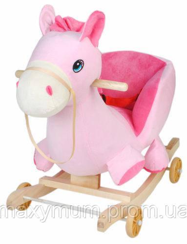 Гойдалка дитяча рожевий Коник