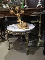 Антикварный бронзовый стол старинный журнальный столик подставка трюмо консоль зеркало колона стол бронзовый