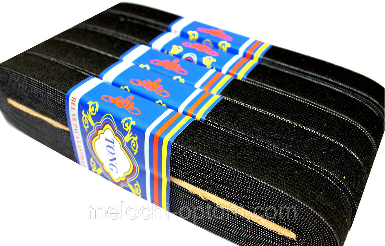 Резинки для одежды (20mm/7m) чёрная, Тесьма эластичная