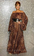 Платье в пол Леопард, фото 1