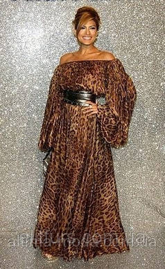 Платье в пол Леопард