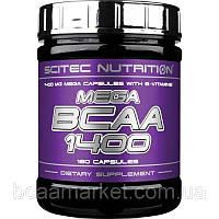Аминокислоты Scitec Nutrition Mega BCAA 1400, 180 caps