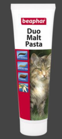 В-ны Беафар Duo Malt Pasta для кошек для выведения шерсти, 100г