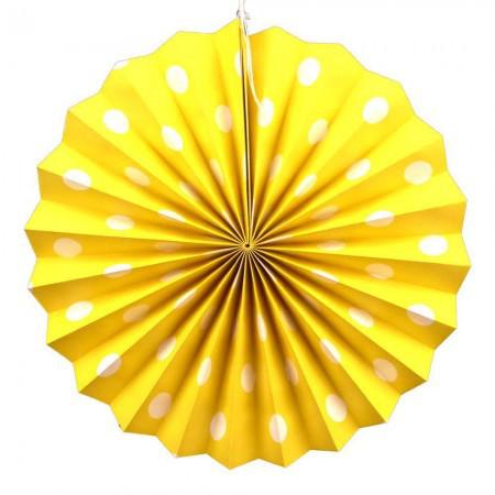 Веерный Круг картон (желтый) 30 см