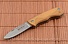 Нож складной, карманный. Сталь 8Cr13MoV. Рукоять - оливковое дерево.