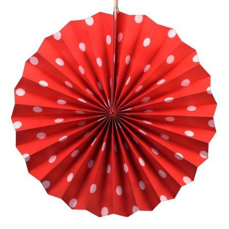 Веерный Круг картон (красный) 30 см