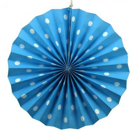 Веерный Круг картон (голубой) 40 см