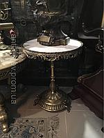 Антикварный бронзовый стол журнальный старинный столик зеркало подставка колона трюмо подарок