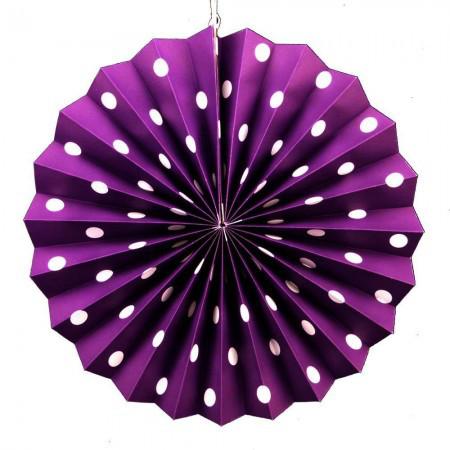 Веерный Круг картон (фиолетовый) 40 см