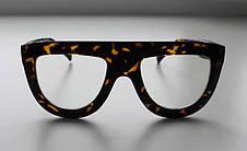 Жіночі сонцезахисні окуляри в леопардовій або однотонної оправі, фото 2