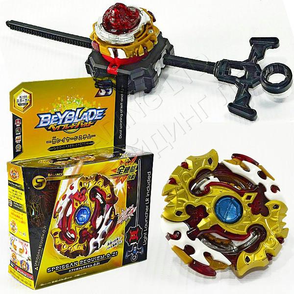 Игрушка-волчок БейБлейд Взрыв BeyBlade Burst Spriggan Requiem S3 Zeta Спрайзен Реквием 3 сезон В100