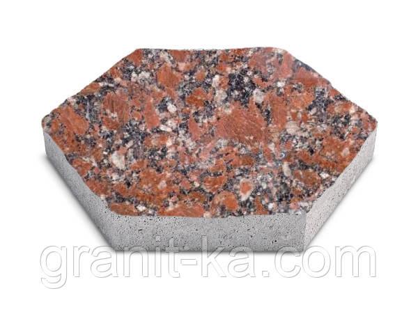 Брусчатка шестигранник (красная) капустинское
