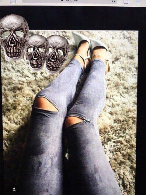 Лосины женские замшевые с замочками на коленах (К8735)