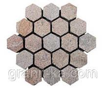 Брусчатка шестигранник (красная) капустинское, фото 2