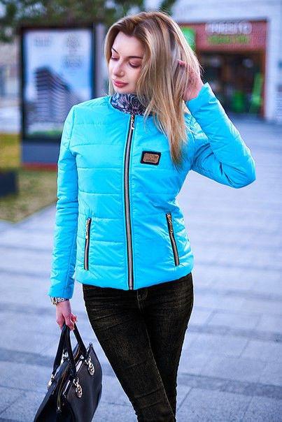 Куртка женская короткая на синтепоне с карманами (К8975)