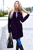 Пальто женское кашемировое с поясом (К9272), фото 1