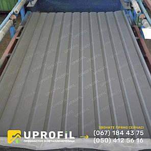 Профнастил стеновой ПС10 для забора Темно-серый RAL 7024 матовый 0.42 мм., фото 2