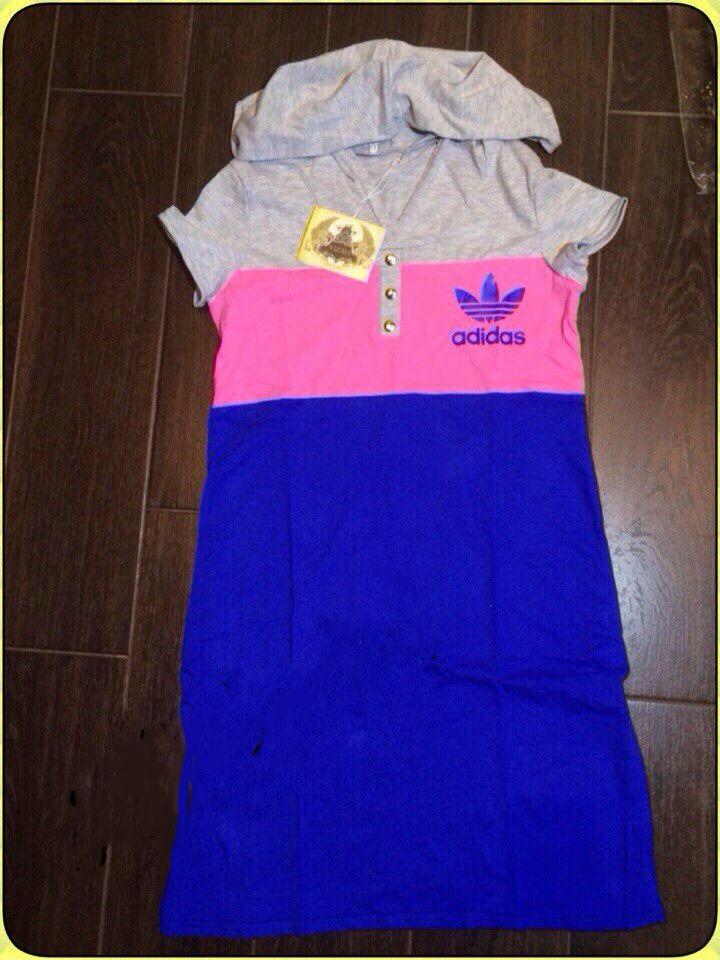 Платье женское с капюшоном Adidas копия (К9763)